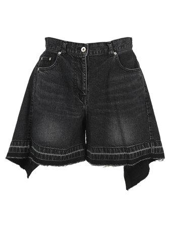 Sacai Asymmetric Denim Shorts