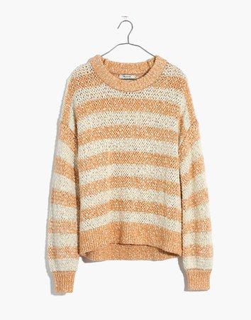 Baez Pullover Sweater in Stripe brown