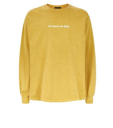 Yellow Cool To Be Kind Slogan T-Shirt | New Look