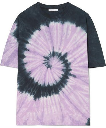 Oversized Tie-dyed Cotton-jersey T-shirt - Purple