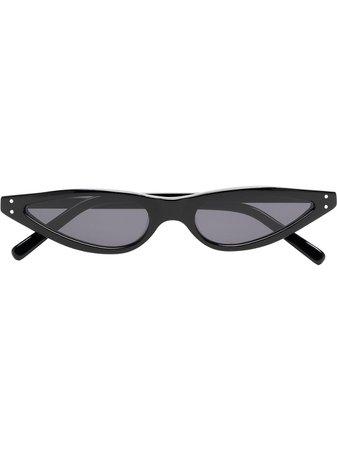 George Keburia Black Cat Eye Sunglasses GKS01 | Farfetch