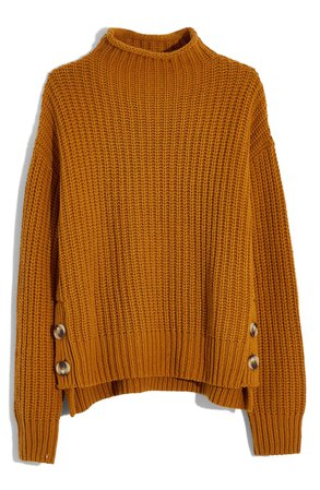 Madewell Mock Neck Side-Button Pullover Sweater (Regular & Plus Size) | Nordstrom