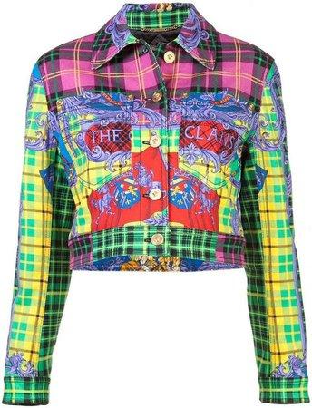 (18) Pinterest - Versace cropped tartan jacket | Products