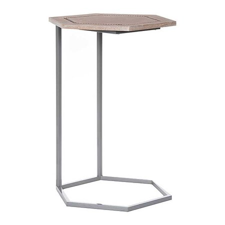 Hexagon C-Table with Beaded Trim | Kirklands