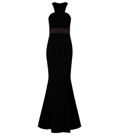 Safiyaa - Halterneck crêpe gown | Mytheresa