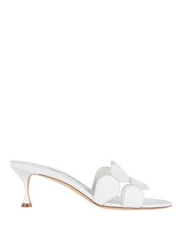 Manolo Blahnik Haribalmu Leather Slide Sandals   INTERMIX®