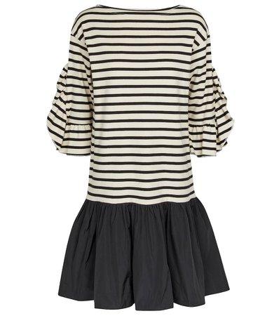 REDValentino - Striped cotton minidress   Mytheresa