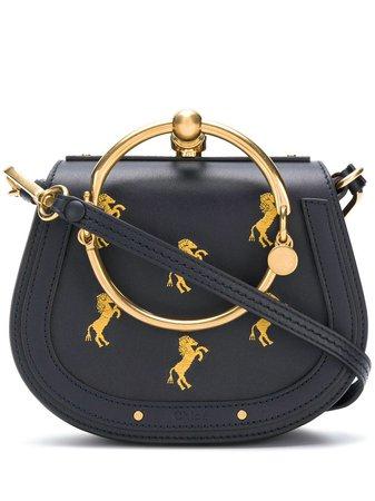 Chloé Small Nile Bracelet Bag CHC18AS301A34 Blue | Farfetch