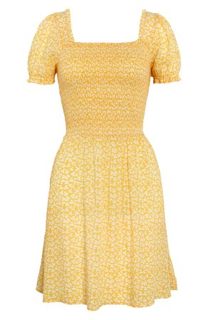 BP. Smocked Floral Print Minidress | Nordstrom