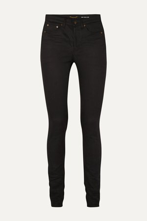Black High-rise skinny jeans | SAINT LAURENT | NET-A-PORTER