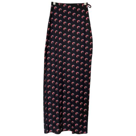 Maxi skirt Marine Serre Black size S International in Synthetic - 10192789