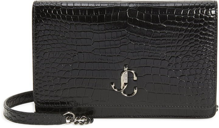 Palace Croc Embossed Leather Clutch