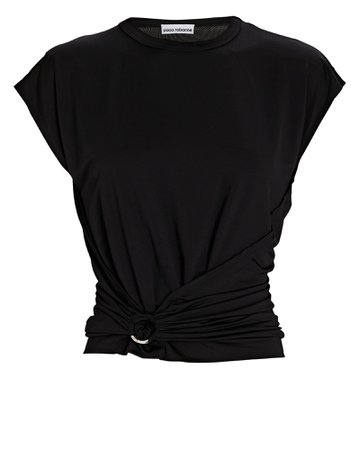 Paco Rabanne Ruched Jersey T-Shirt | INTERMIX®