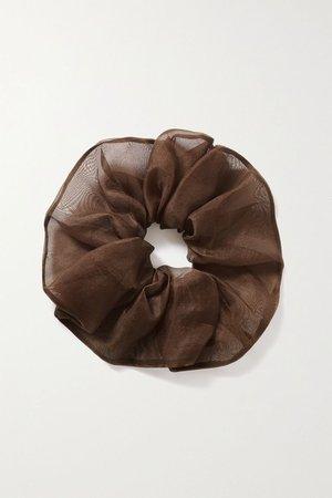 Brown Silk-organza hair tie | Sophie Buhai | NET-A-PORTER