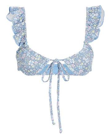 Frankies Bikinis Birdie Ruffled Bikini Top | INTERMIX®