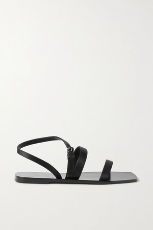 Black Satin sandals   The Row   NET-A-PORTER