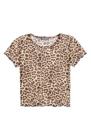 La La Land Creative Co Leopard Mesh T-Shirt | Nordstrom