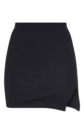 Jemmia Black Split Mini Skirt | Skirts | PrettyLittleThing