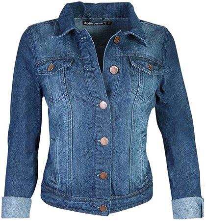 dollhouse Women's Basic Denim Jean Jacket, Size Small, Dark at Amazon Women's Coats Shop