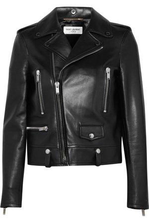 Black Perfecto leather biker jacket   SAINT LAURENT   NET-A-PORTER