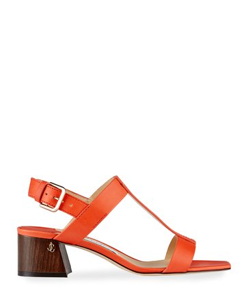 Jimmy Choo Leather Slingback Sandals