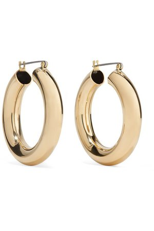 Laura Lombardi | Gold-tone hoop earrings | NET-A-PORTER.COM