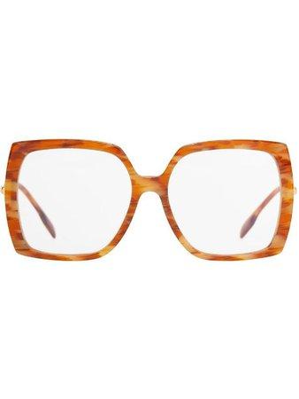 Burberry oversized square-frame glasses - FARFETCH
