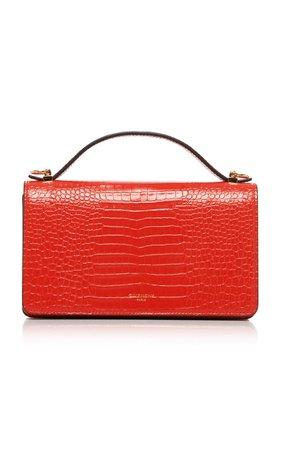 GV3 Croc-Effect Leather Shoulder Bag by Givenchy | Moda Operandi