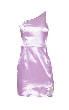 Lilac Satin One Shoulder Bodycon Dress | PrettyLittleThing USA