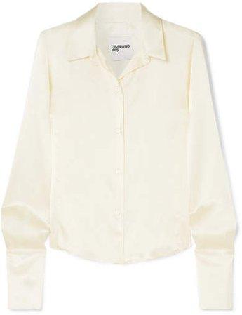 Silk-satin Shirt - Cream