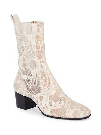 Chloé Goldee Logo Lace Ankle Boots | SaksFifthAvenue