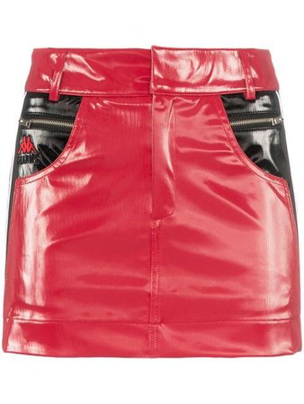 Charm's x Kappa Flame Line faux leather mini skirt $192 - Buy Online - Mobile Friendly, Fast Delivery, Price