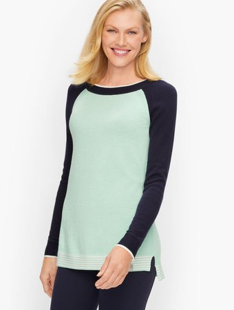Tipped Crewneck Sweater | Talbots