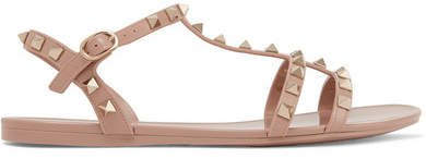 Garavani The Rockstud Rubber Sandals - Blush