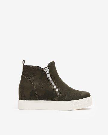 Steve Madden Camo Wedgie Sneakers