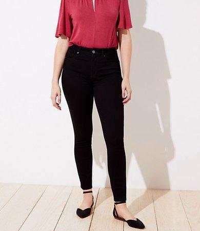 Petite Curvy High Rise Skinny Jeans in Black