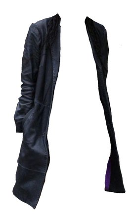 purple lined leather jacket