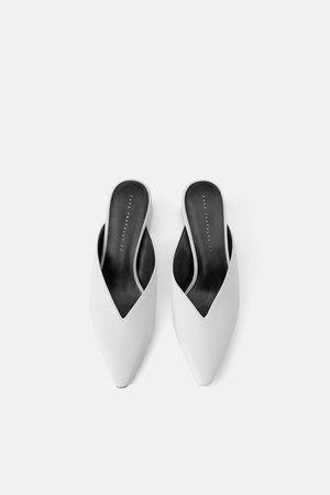 MULE TACÓN ESCOTE - Zapatos tacón-ZAPATOS-MUJER | ZARA España