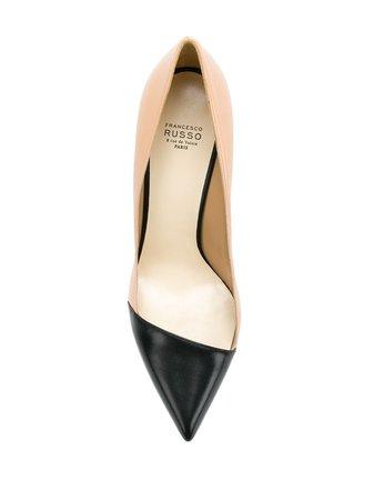 Zapatos De Tacón Bicolores Decollete Francesco Russo Disponibles En Tallas 35 - 38,5. Envío Express ✈ Devolución Gratuita ✓