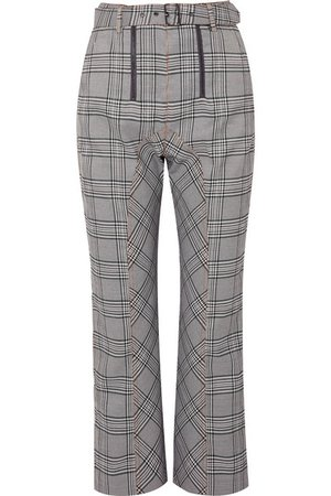 Self-Portrait | Cropped checked tweed straight-leg pants | NET-A-PORTER.COM