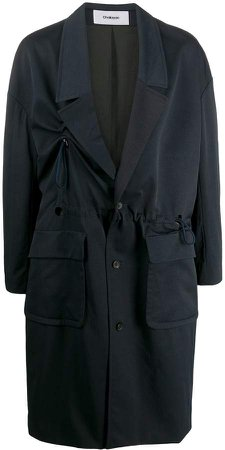 Drawstring Waist Trench Coat