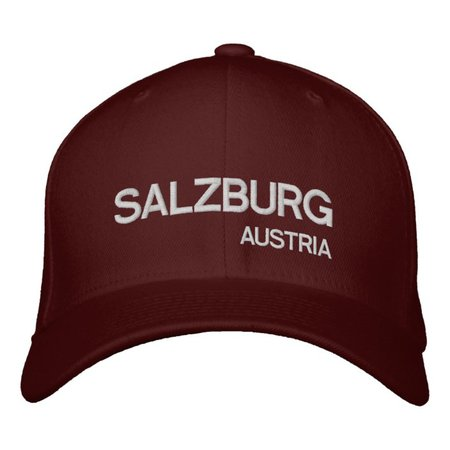 Salzburg, Austria* Maroon Custom Hat | Zazzle.com