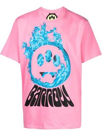 BARROW logo-print Cotton T-shirt - Farfetch