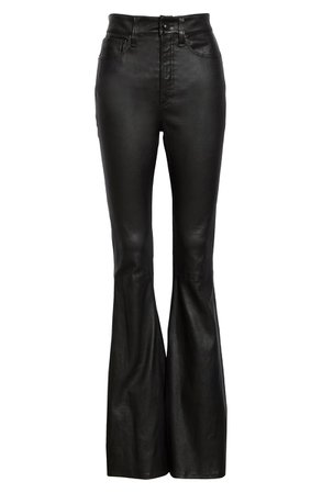 rag & bone Jane Super High Waist Leather Flare Pants | Nordstrom