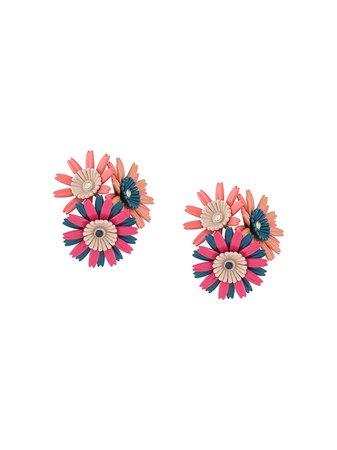 Marni Flower Cluster clip-on Earrings - Farfetch