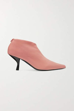 Bourgeoise Leather Ankle Boots - Pink
