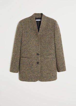 Buttons tweed blazer - Women | Mango USA