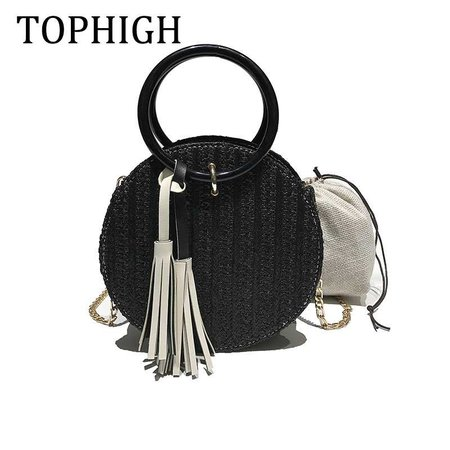 Aliexpress.com : Buy 2019 Women Handmade Round Beach Shoulder Bags Circle Straw Bags Summer Woven Rattan Handbags Women Messenger Bags from Reliable Shoulder Bags suppliers on TOPHIGH Official Store