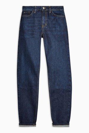 Indigo Mom Jeans straight | Topshop