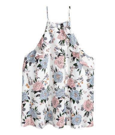 H&M Floral Halter Blouse